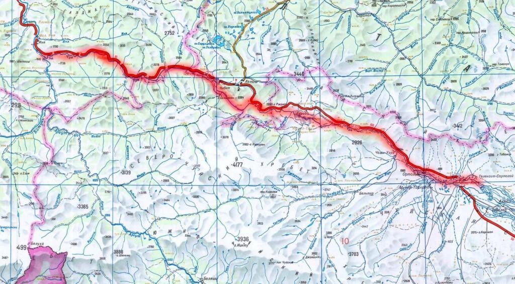 Карта реки Чуя