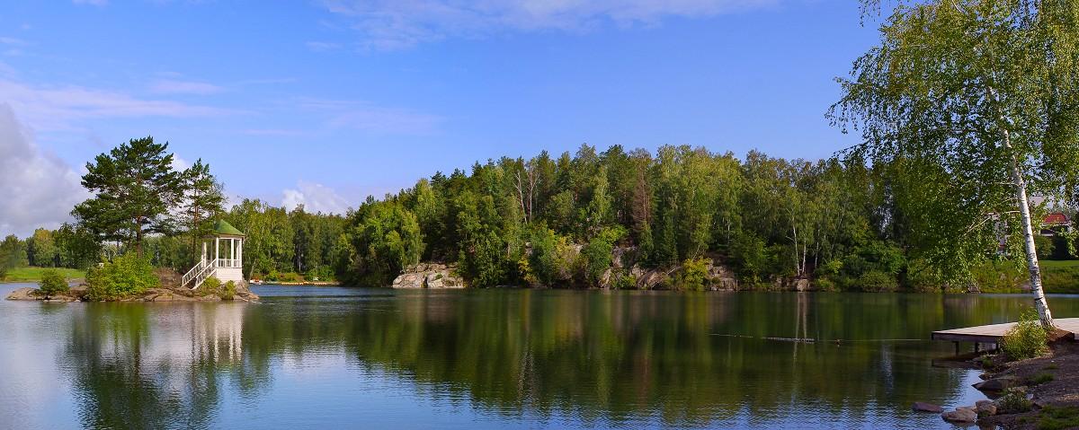 панорама озера ая