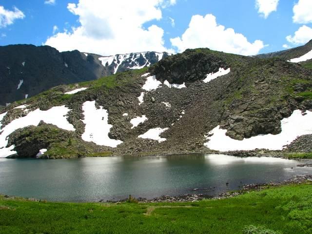 Озеро Манас. Расположено у горы Кабарга