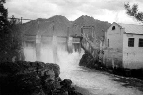 Чемальская ГЭС 1959 год