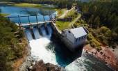 Чемальское водохранилище, вид сверху